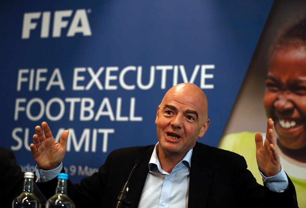 FIFA President Gianni Infantino has spearheaded the controversial expansion of the World Cup from 32 to 48 nations from the 2026 tournament ©Getty Images