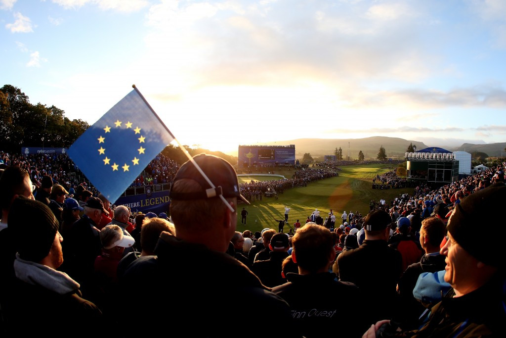 The Ryder Cup was first held in 1927 as a contest between golfers from Great Britain and the United States but now includes players from Europe to help make it more competitive ©Getty Images