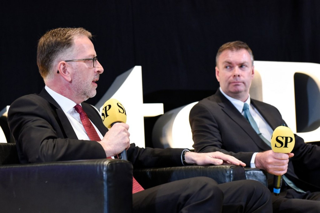 UK Athletics chairman Ed Warner, left, has called for a move away from International Federations being led by people who have been elected on the back of serving time in their sport ©SportsPro Live/Twitter