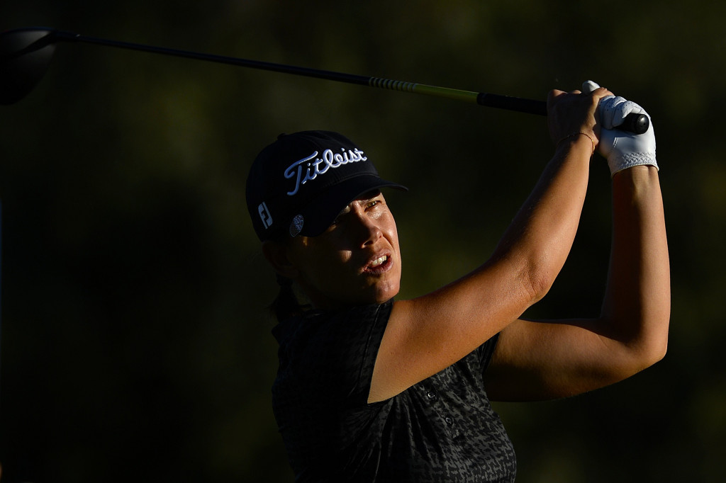 Icher leads ANA Inspiration as high winds stop play
