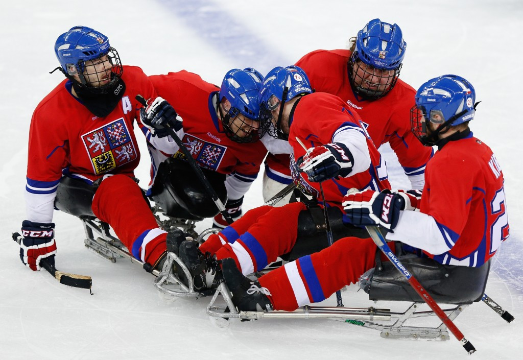 Martin Novak was a member of the Czech Republic team which won the 2016 IPC Ice Sledge Hockey World Championships B-Pool event in December ©Getty Images