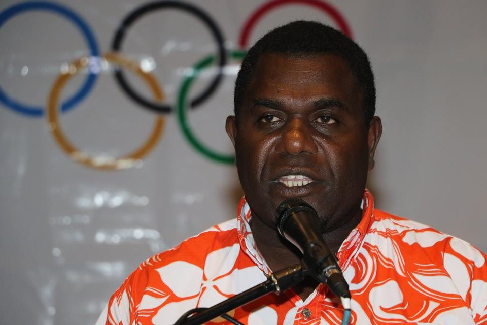 Vanuatu's Sports Minister Seoule Simeon was present to help with the presentation ©Facebook/ONOC Digest