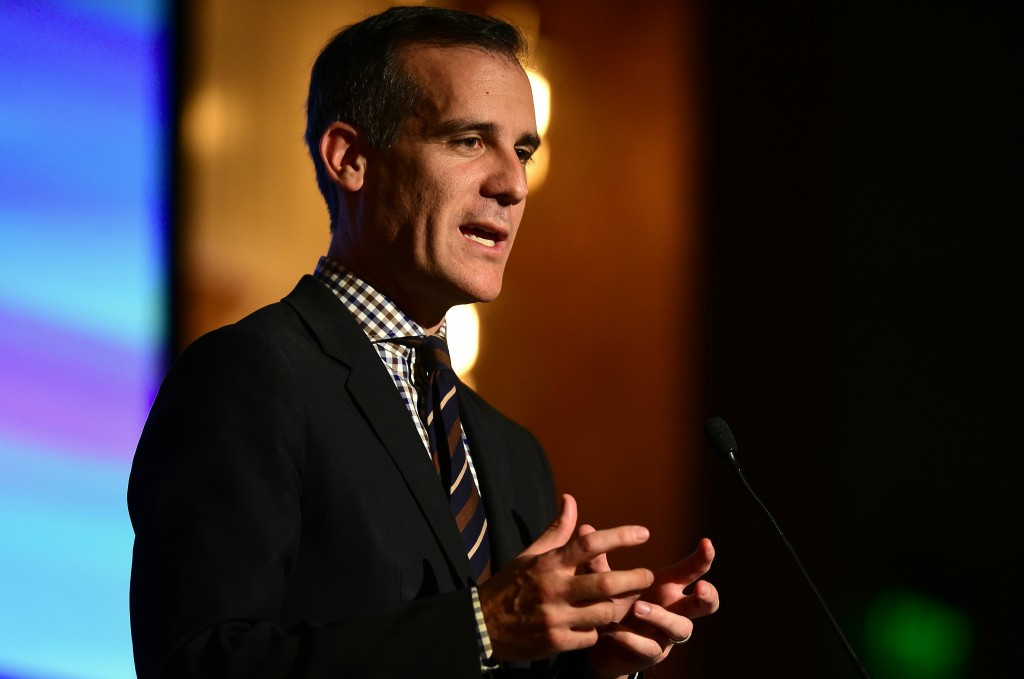 Los Angeles Mayor Eric Garcetti is expected to lead the Californian city's delegation ©Getty Images