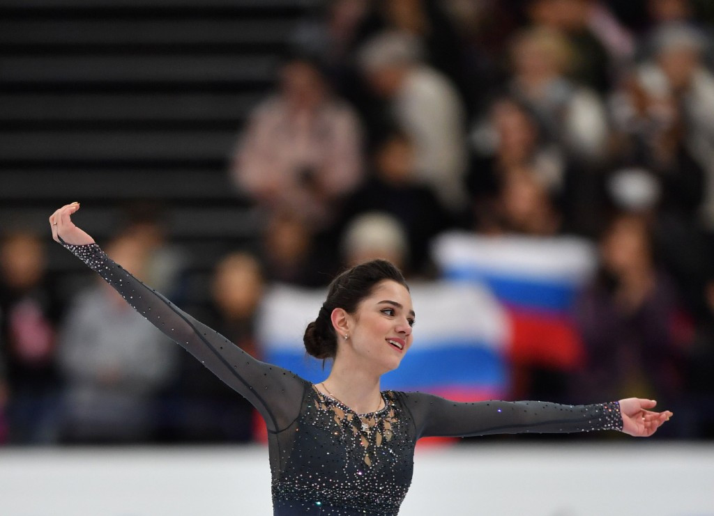 Evgenia Medvedeva produced a spectacular performance to win gold in Helsinki ©Getty Images