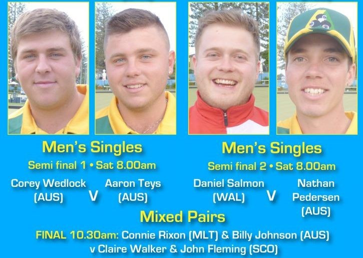 The men's singles semi-final line-up has been confirmed ©World Bowls