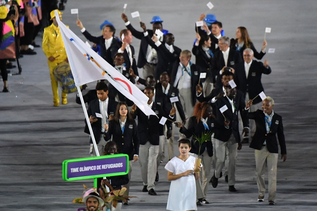 The Refugees Olympic Team competed at the Rio 2016 Games in August ©Getty Images