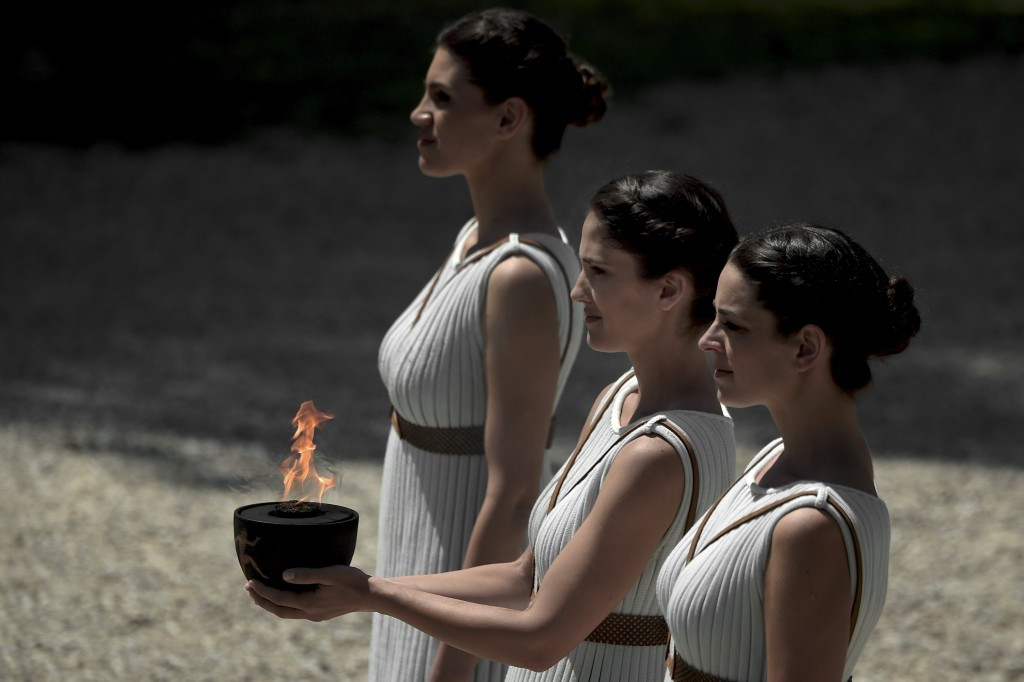 The Olympic flame for Pyeongchang 2018 will be lit at Ancient Olympia on October 24 ©Getty Images