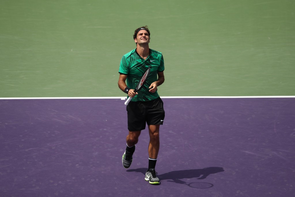 Roger Federer beat Rafael Nadal to win the Miami Open title today ©Getty Images