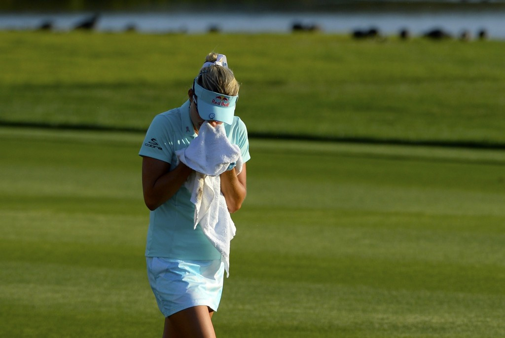 Lexi Thompson was given a four stroke penalty while leading the final round of the ANA Inspiration tournament ©Getty Images