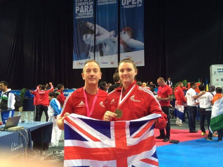 Amy Truesdale, right, is a triple European Para-Taekwondo champion ©GB Taekwondo
