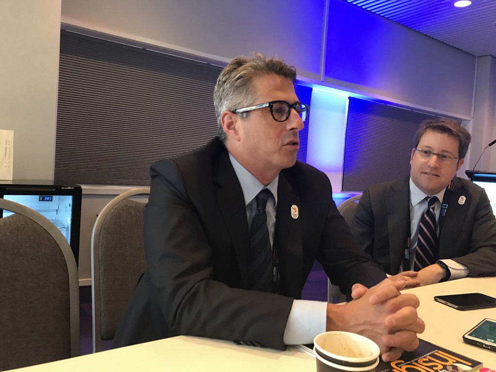 Los Angeles 2024 chairman Casey Wasserman, left, claimed that his city were a