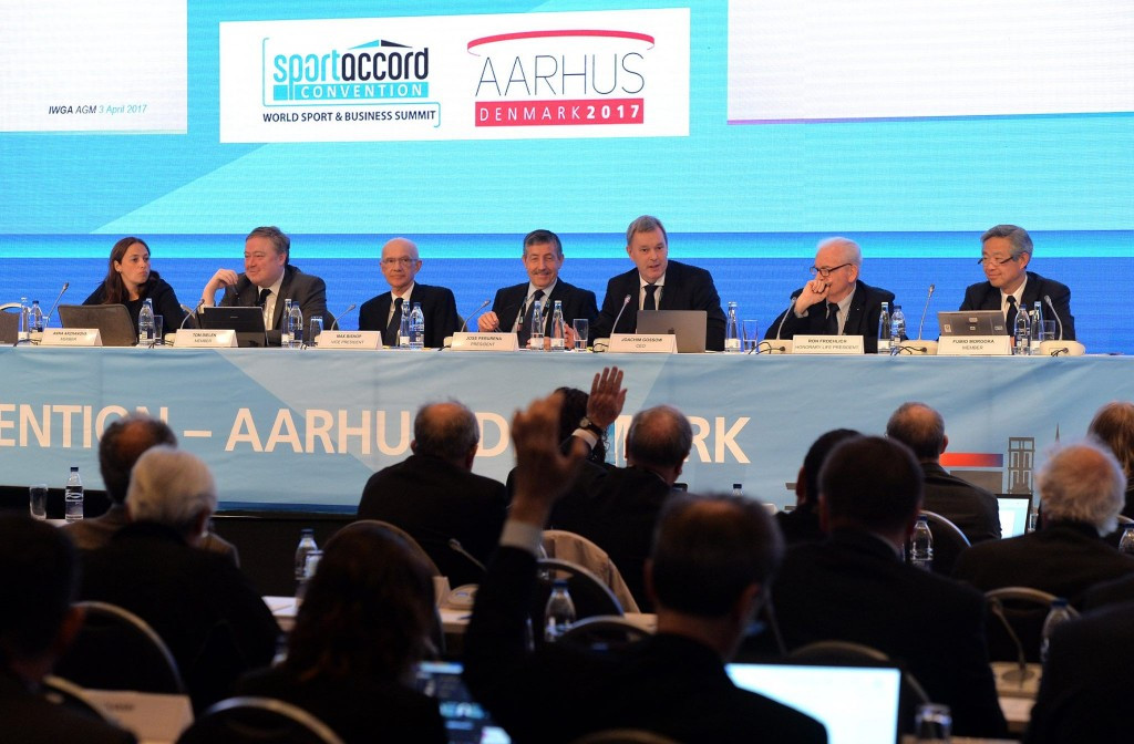 Seven applications for IWGA membership were turned down today at the body's AGM ©SportAccord Convention/Facebook