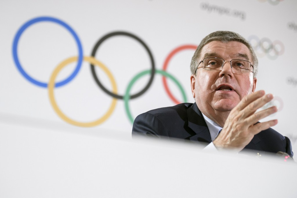 Thomas Bach and the International Olympic Committee Executive Board announced their 12 proposals to help combat doping during a meeting in Pyeongchang last month ©Getty Images