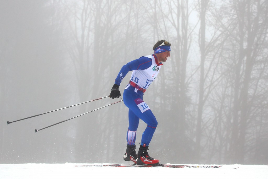 Benjamin Daviet also won his second gold of the competition in the men's standing race in Canmore ©Getty Images