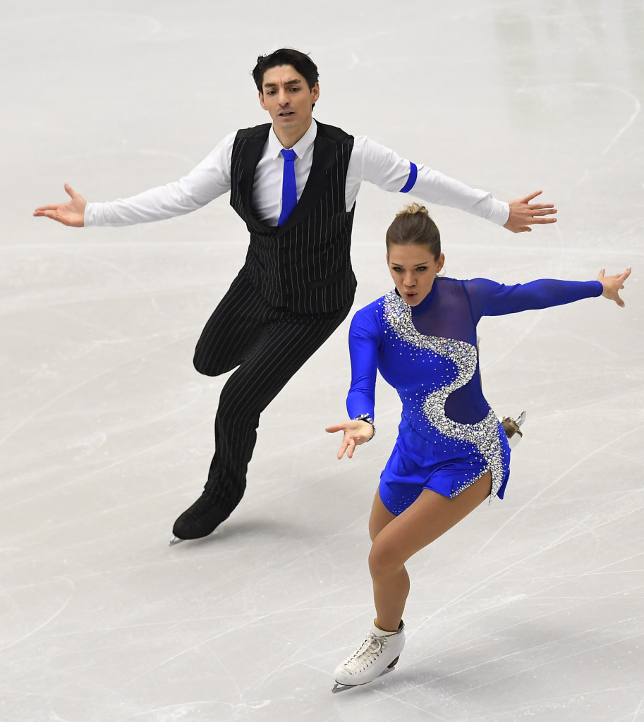 Alper Uçar, pictured with dance partner Alisa Agafonova, will be the ice dance representative of the ISU Athletes' Commission ©Getty Images