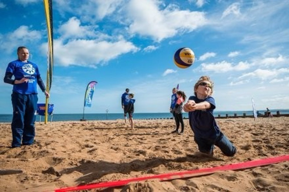Commonwealth Games Scotland marked the one-year to go mark with a beach volleyball themed event ©Team Scotland