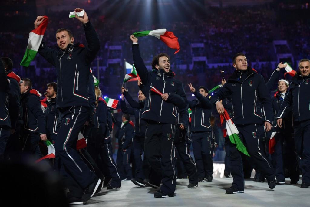 bbffe451c Giorgio Armani provided the Opening Ceremony uniforms for Italy at Sochi  2014