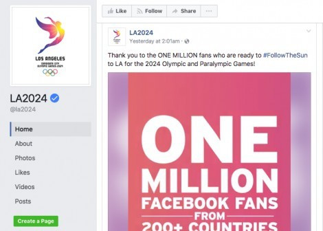 Los Angeles 2024 forced to deny French claims it artificially inflated Facebook likes