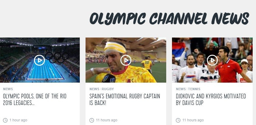 The Olympic Channel has passed the one billion view mark ©Olympic Channel