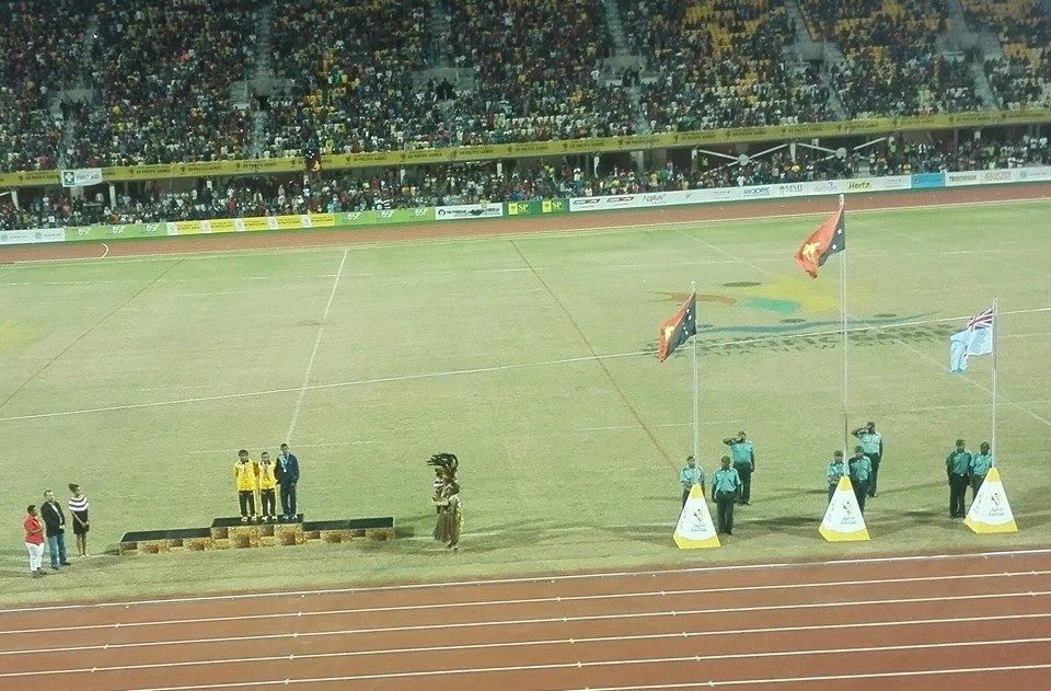 A decent-size crowd flocked to the Sir John Guise Stadium for the opening night of athletics finals at Port Moresby 2015