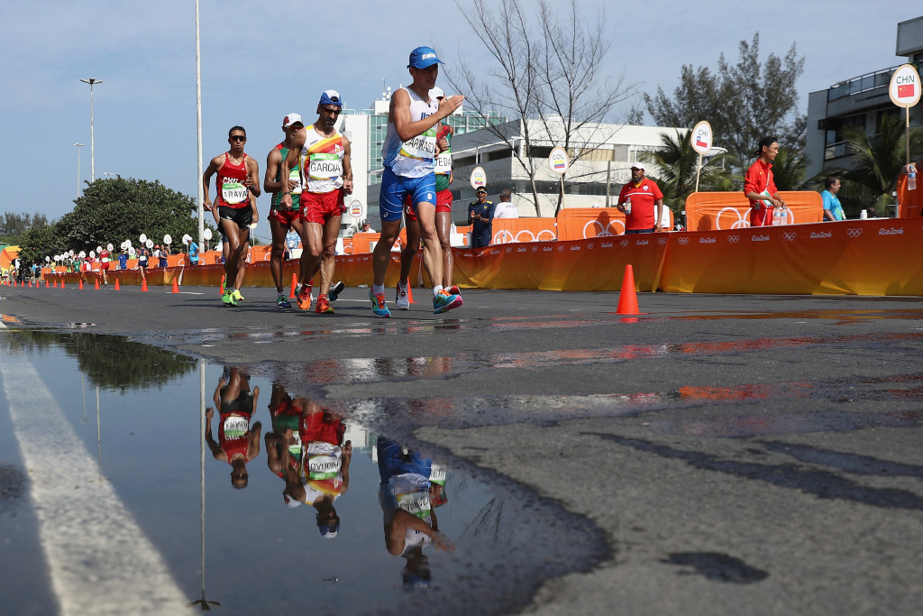 Concerns are rising that the 50km race walk may be dropped on from Olympic programme ©Getty Images