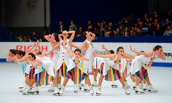 The ISU World Synchronised Skating Championship is being held in Colorado Springs this year and starts tomorrow ©ISU