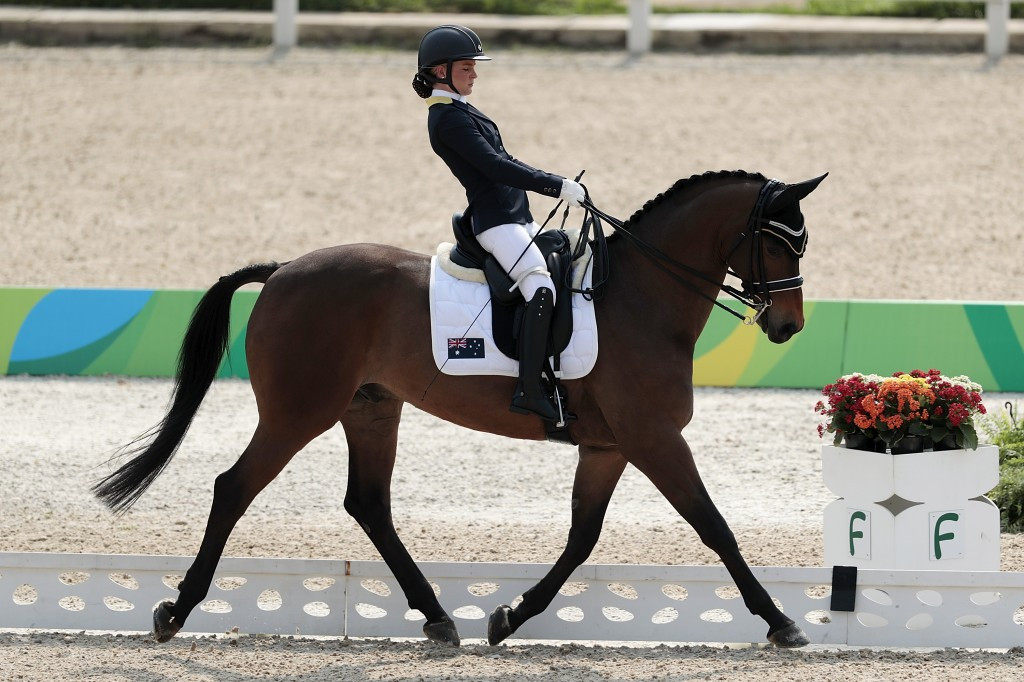Emma Booth narrowly missed out on a medal at Rio 2016 aboard Mogelvangs Zidane ©Getty Images