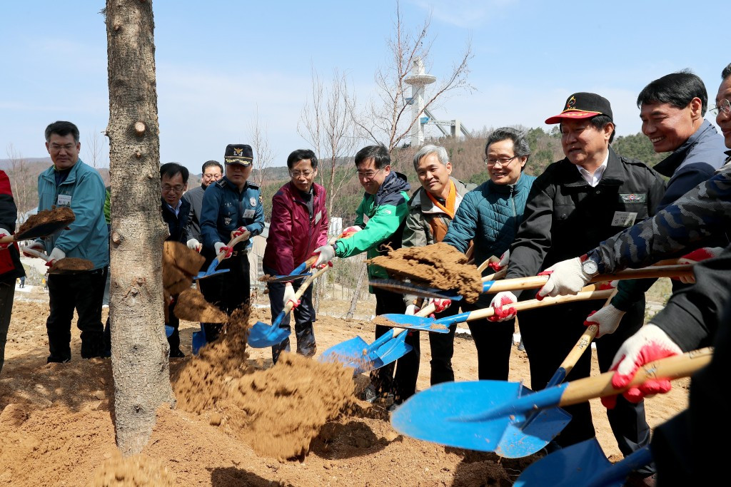 Pyeongchang 2018 mark Arbour Day by planting 546 trees