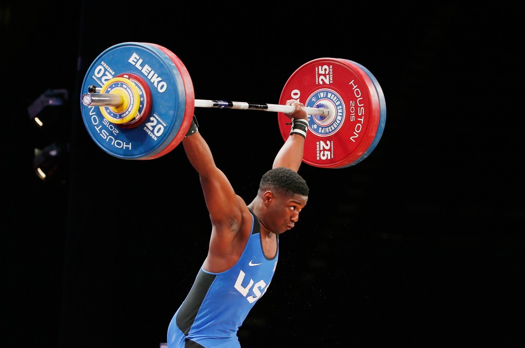 Clarence Cummings Jr beat his own youth world record on his way to the 69kg title in Bangkok ©Getty Images