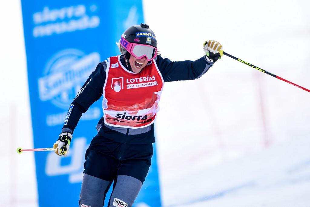 Senior world champion Näslund adds junior ski cross crown