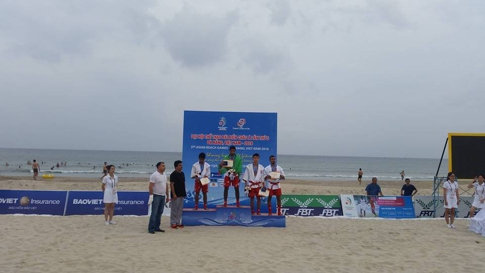 The 2016 Asian Beach Games were held in Viatnamese city Danang, where sambo featured on the sports programme ©ITG