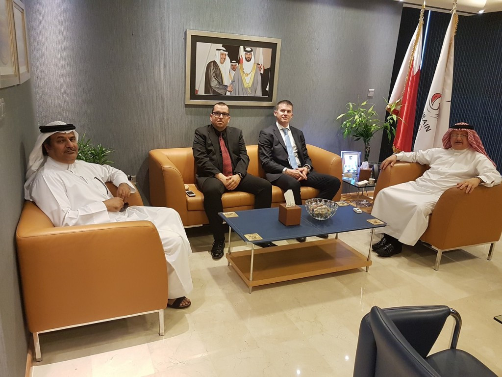 Bahrain Olympic Committee officials met figures from the National Sports Medicine Centre ©BOC