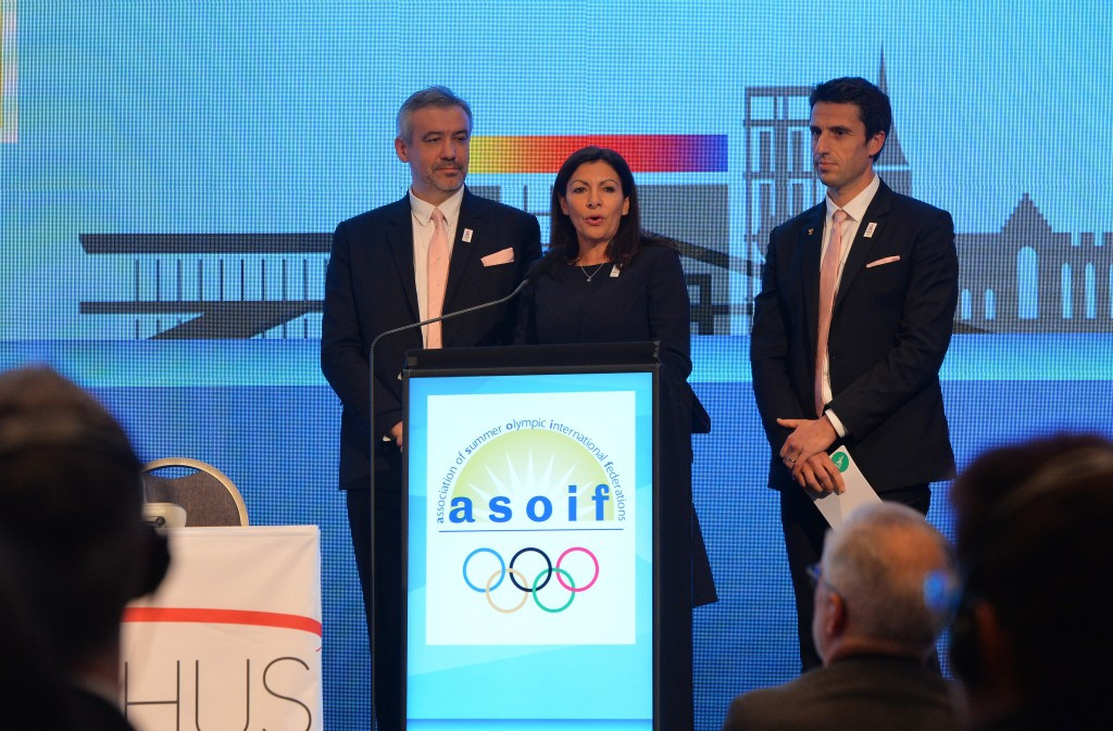 Paris 2024 hammered home their message during the presentation at the ASOIF General Assembly in Aarhus ©Getty Images