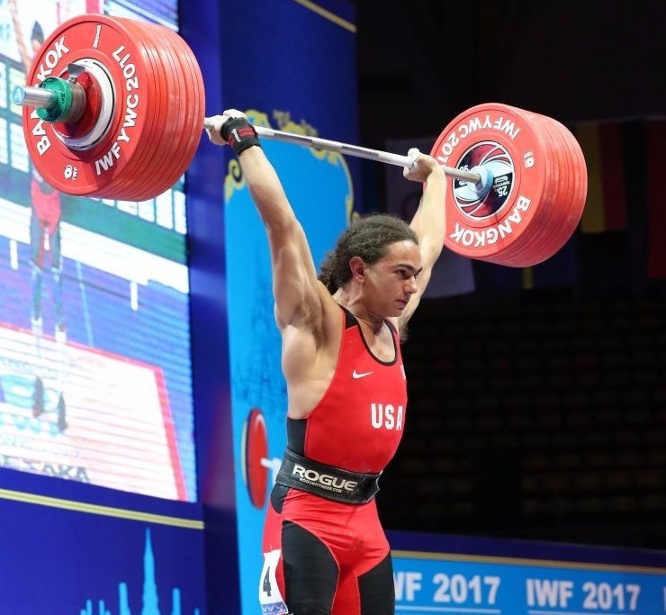 Harrison Maurus produced a world record breaking performance ©IWF