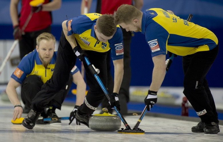 Sweden beat Switzerland to earn World Men's Curling Championship final place