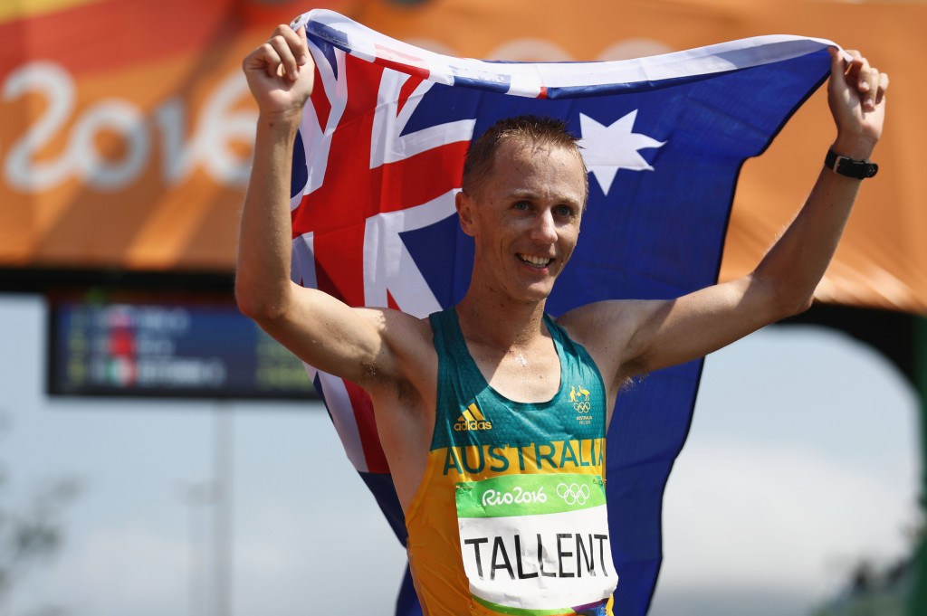 Australia's Jared Tallent co-signed the letter sent to IAAF President Sebastian Coe ©Getty Images