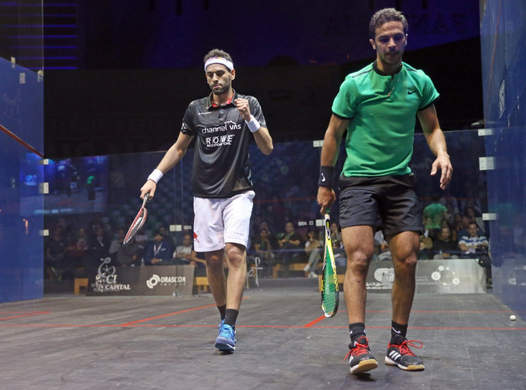 Egypt's Mohamed Elshorbagy beat compatriot Mohamed Abouelghar in a five-game epic at the men's El Gouna International Squash Open ©PSA World Tour/Twitter