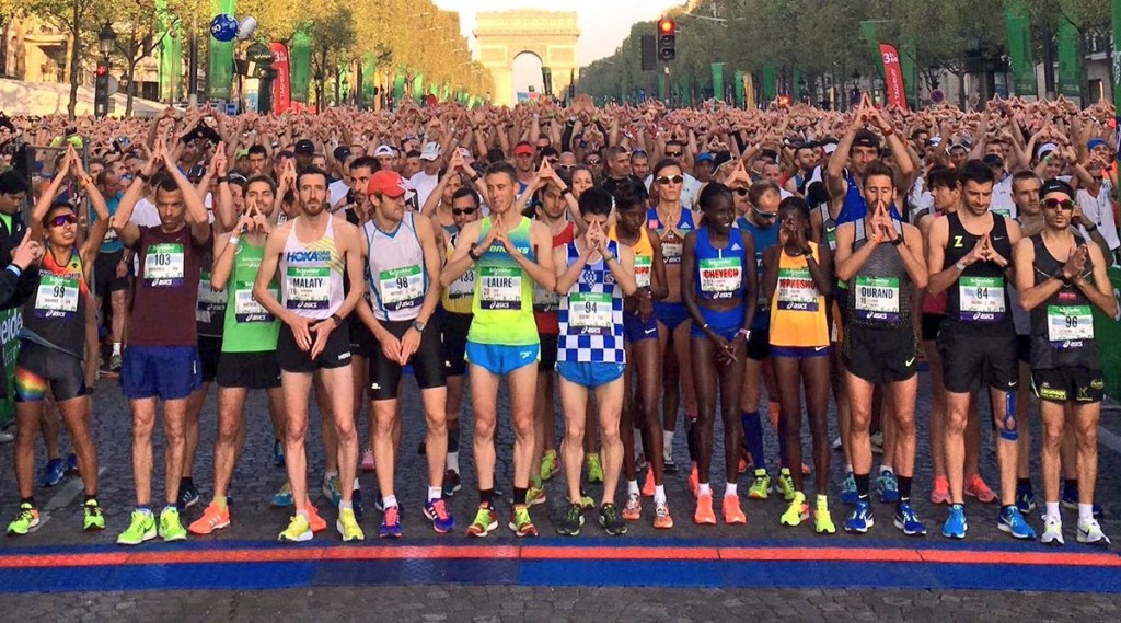 Paris 2024 pledged their commitment to gender diversity at the Paris Marathon ©Paris 2024