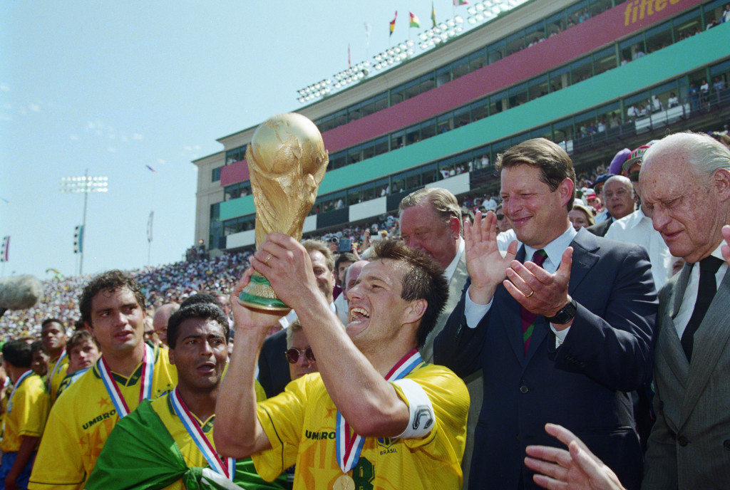 The United States hosted the World Cup for the only time in 1994, when Brazil triumphed ©Getty Images