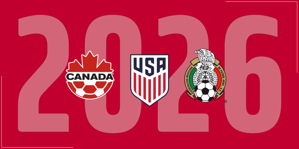 Canada, Mexico and the United States have officially announced a joint bid for the 2026 FIFA World Cup ©US Soccer