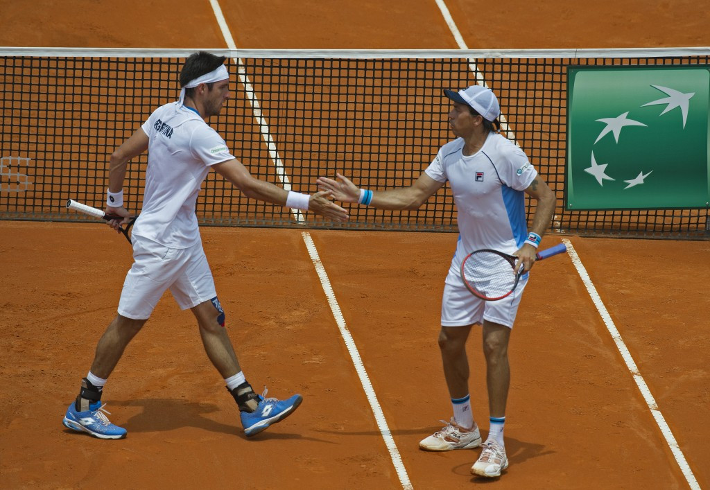 Argentina, pictured, will play Kazakhstan in this year's Davis Cup World Group play-offs ©Getty Images