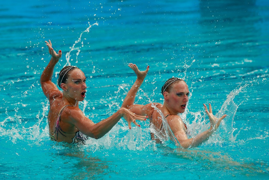 Natalia Ishchenko and partner Svetlana Romashina won gold together at London 2012 and Rio 2016 ©Getty Images
