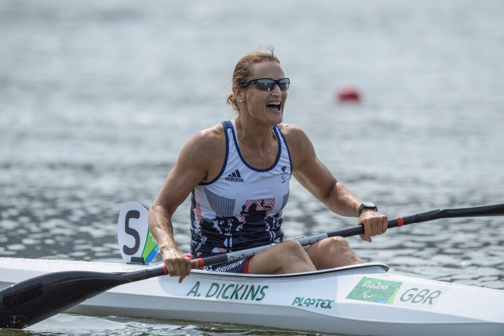 Anne Dickins won the single kayak 200 metres KL3 title at Rio 2016 ©Getty Images