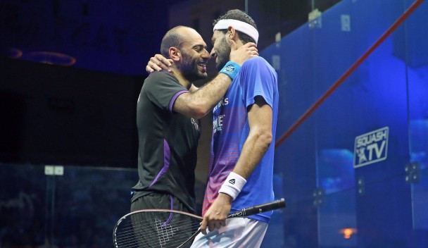 Marwan El Shorbagy of Egypt claimed his second recent victory over brother Mohamed, the former world number one ©PSA