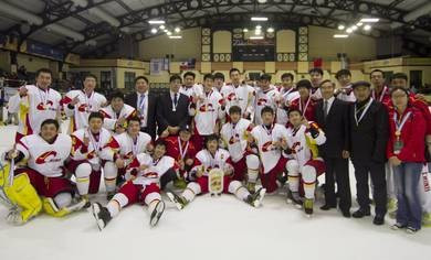 China won promotion to the IIHF World Championship Division II Group A ©IIHF