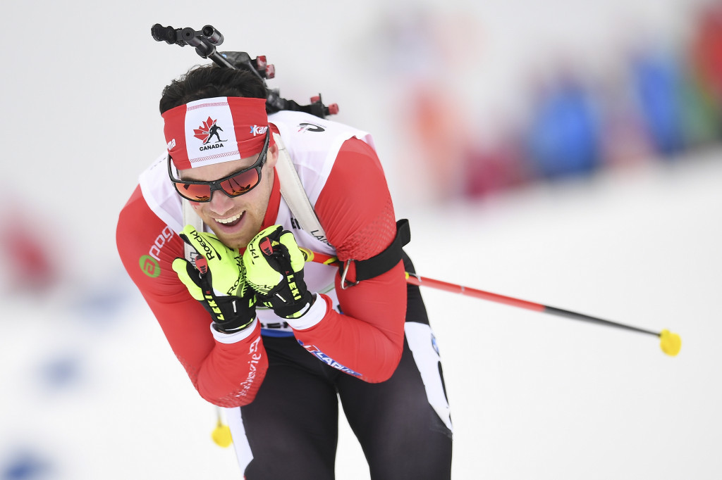 Canada's top biathlete Nathan Smith missed large periods of the season due to a virus ©Getty Images