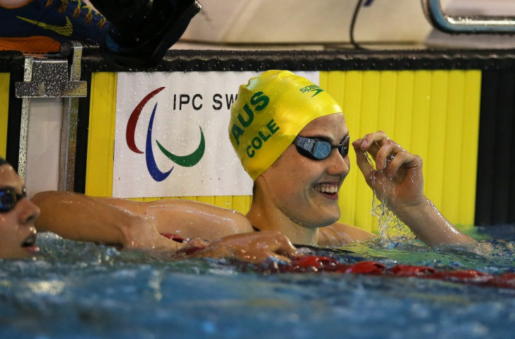 Cole in record-breaking form as Simmonds dethroned on opening day of IPC Swimming World Championships