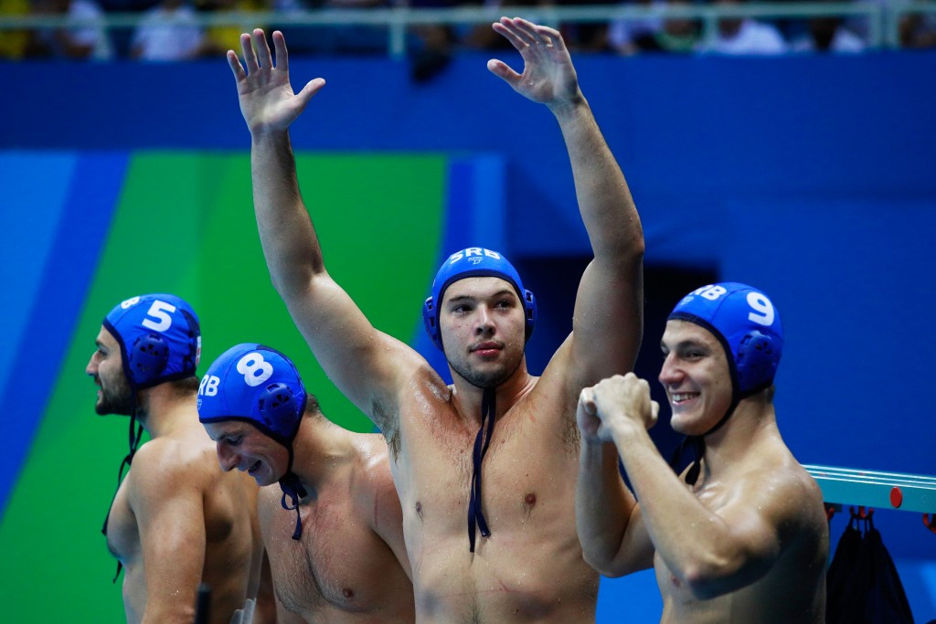 Rio 2016 champions Serbia finished top of their group ©Getty Images