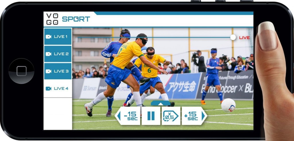 Panasonic tests fan solutions at blind football match