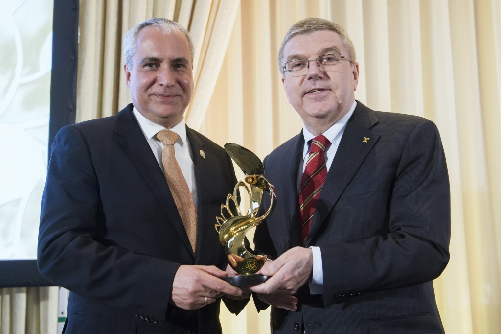 De Vos awarded IOC President's Trophy